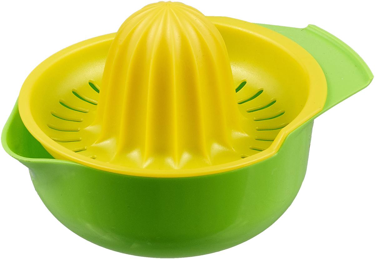 Соковыжималка ручная для цитрусовых цвет: салатовый, желтый соковыжималка unit ucj 419 серебристый ce 0360065
