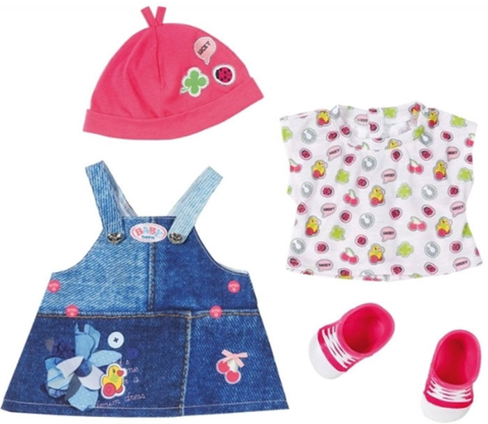 Zapf Creation Одежда для куклы BABY born Джинсовая коллекция цена