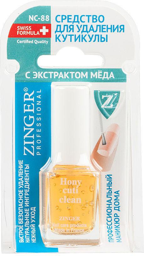 """Zinger Средство для удаления кутикулы """"С экстрактом мёда"""", NC 88, ZO, xZ355, v, 12 мл"""