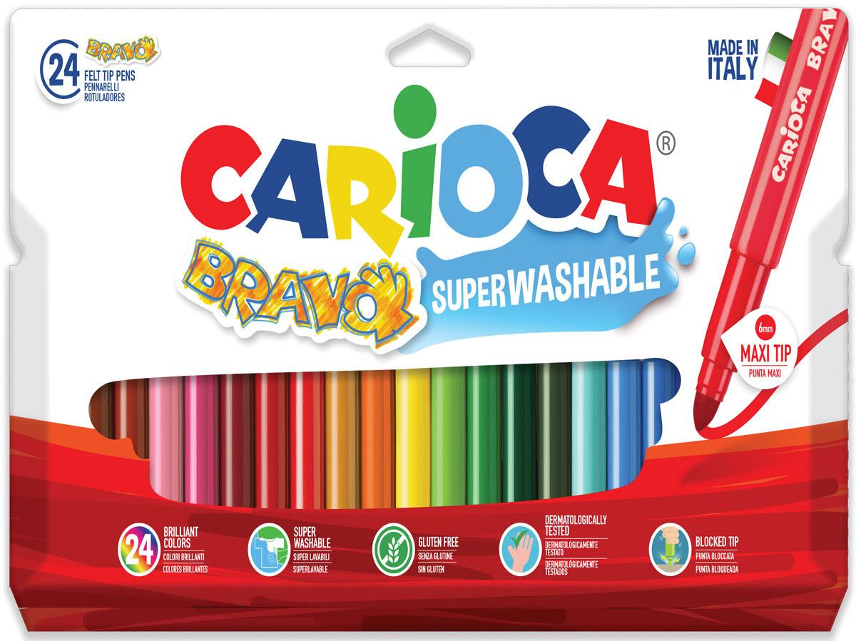 Carioca Набор фломастеров Bravo 24 цветов набор для рисования carioca back to school 43261 97 предметов
