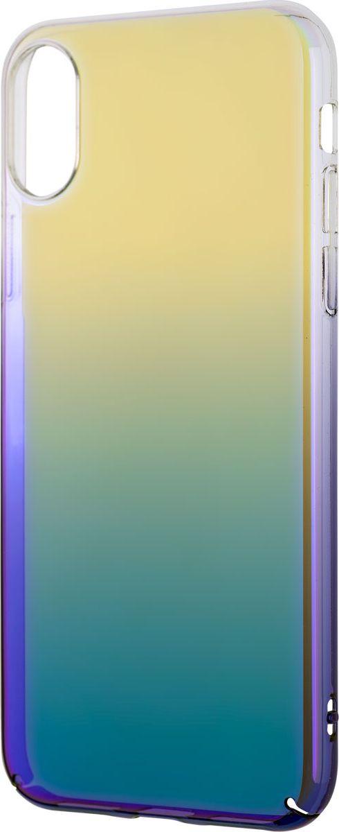 Чехол-накладка Interstep Is Bloom для Apple iPhone X, Turquoise чехол накладка interstep is bloom для apple iphone 7 8 plus turquoise