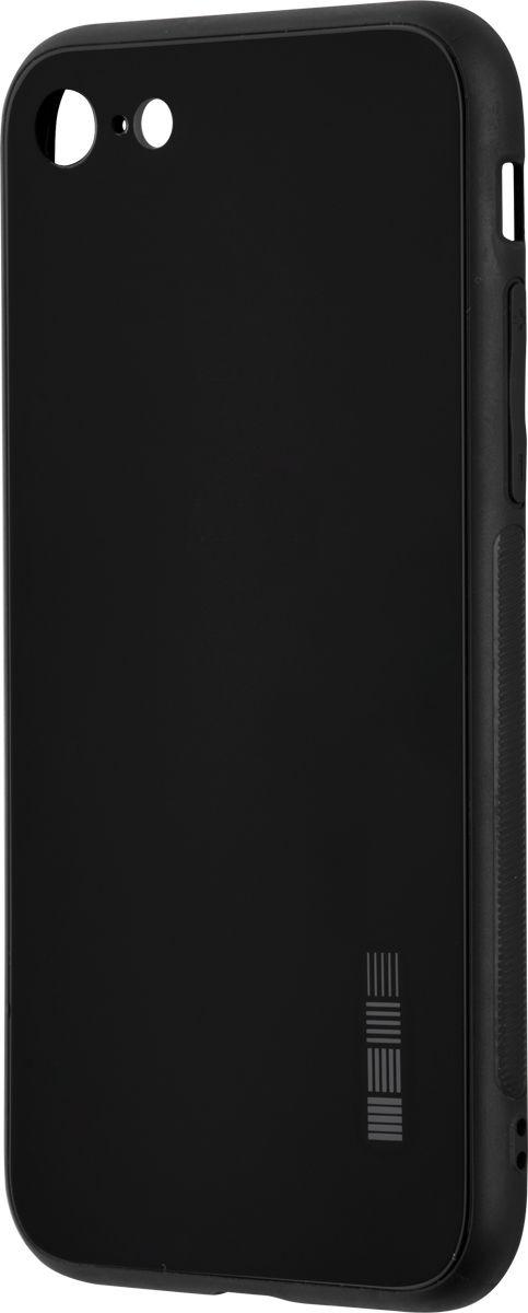 Чехол-накладка Interstep Is Glass для Apple iPhone 7/8, Black чехол накладка interstep is glass для apple iphone x red