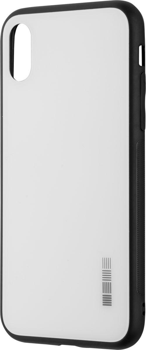 Чехол-накладка Interstep Is Glass для Apple iPhone X, White чехол накладка interstep is glass для apple iphone x red