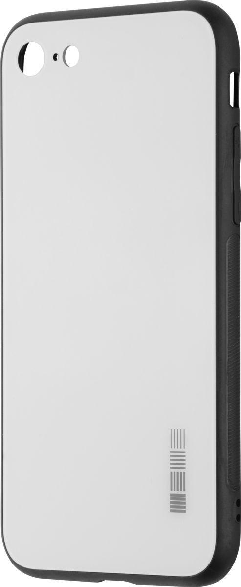 Чехол-накладка Interstep Is Glass для Apple iPhone 7/8, White чехол накладка interstep is glass для apple iphone x red