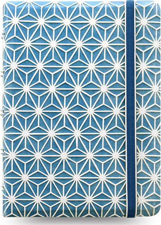 Тетрадь Filofax Impressions Pocket, 56 листов, в линейку, формат A6, цвет: синий, белый