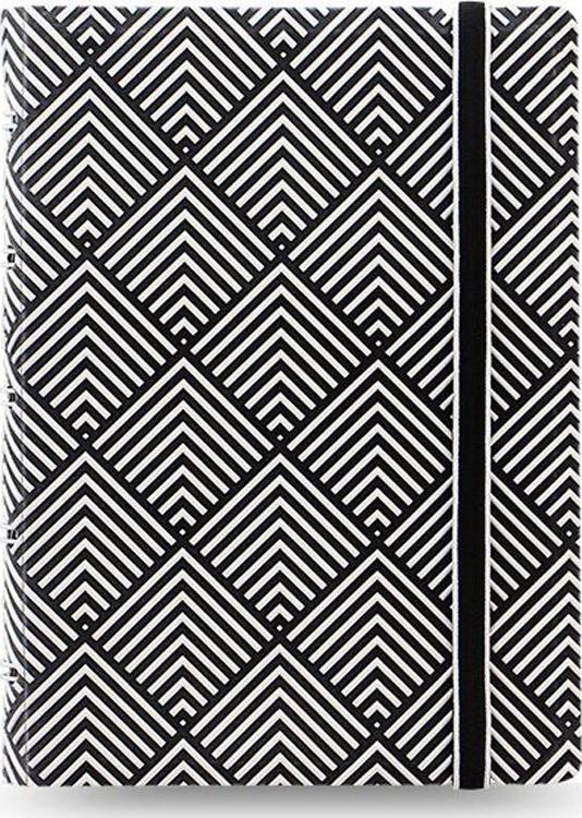 Тетрадь Filofax Impressions Pocket, 56 листов, в линейку, формат A6, цвет: черный, белый