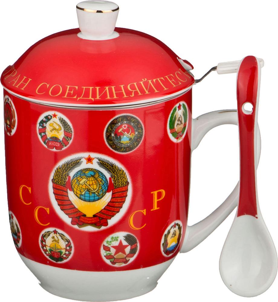 Кружка заварочная Lefard СССР, с ложкой, 300 мл кружка заварочная lefard love 375 мл 756169