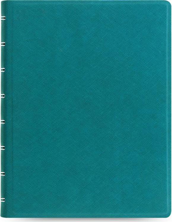 Тетрадь Filofax Saffiano, 56 листов, в линейку, формат A5, цвет: бирюзовый
