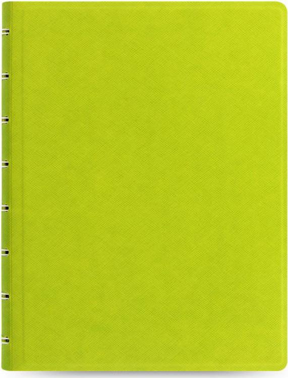 Тетрадь Filofax Saffiano, 56 листов, в линейку, формат A5, цвет: светло-зеленый