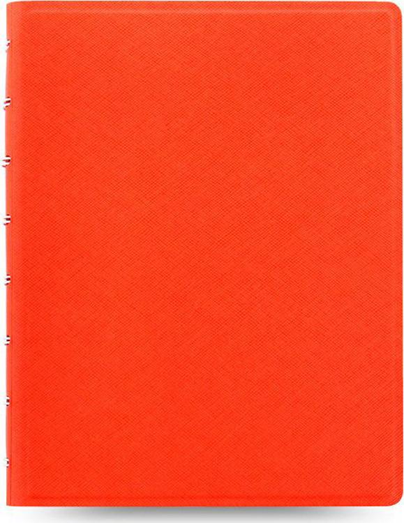 Тетрадь Filofax Saffiano, 56 листов, в линейку, формат A5, цвет: оранжевый