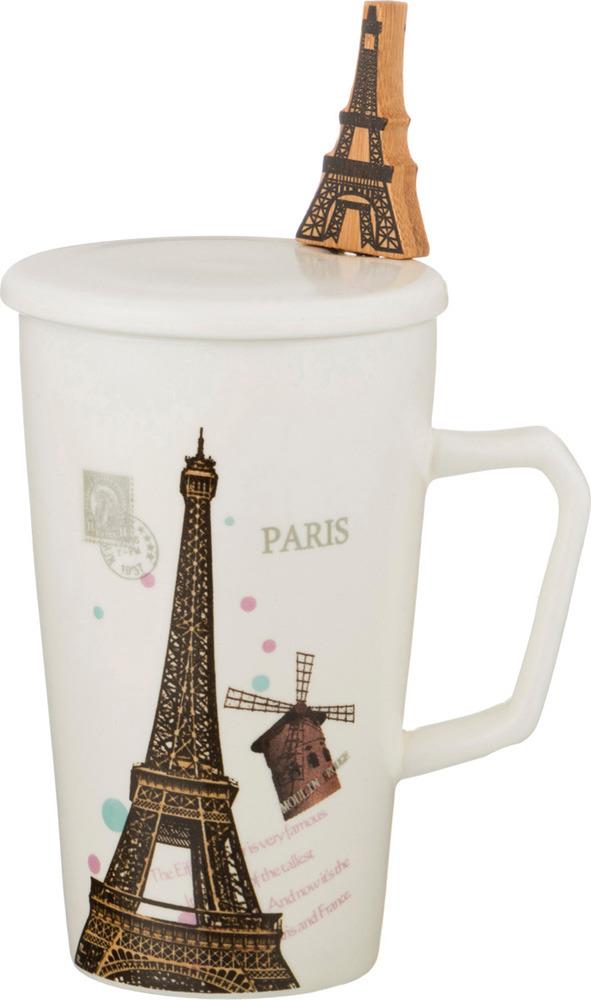 Кружка заварочная Lefard Воспоминания о Париже, с ложкой, 300 мл кружка заварочная lefard love 375 мл 756169