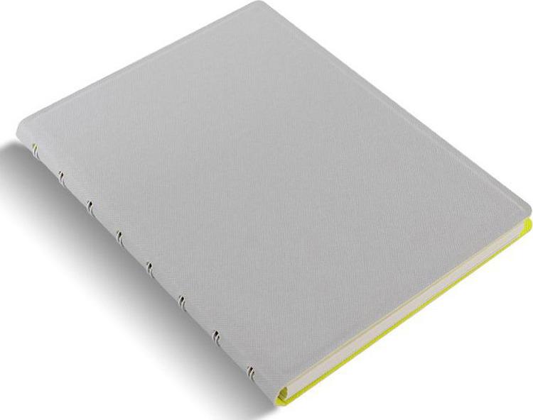 Тетрадь Filofax Saffiano, 56 листов, в линейку, формат A5, цвет: светло-зеленый, серый