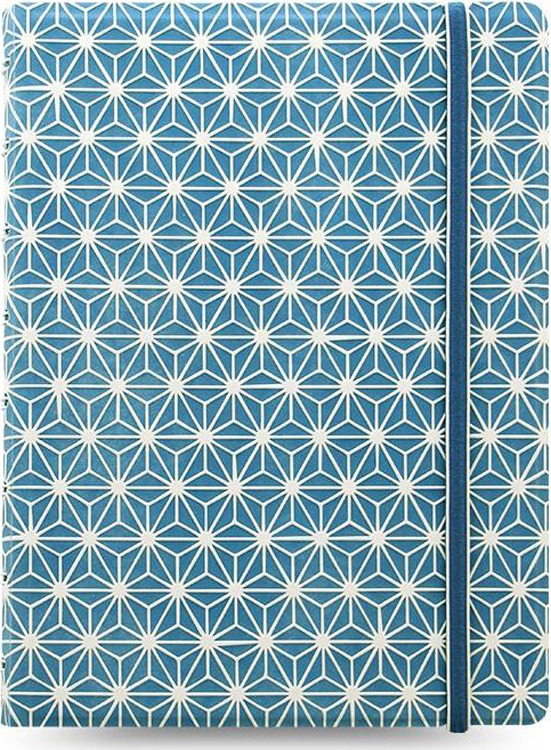 Тетрадь Filofax Impressions, 56 листов, в линейку, формат A5, цвет: синий, белый