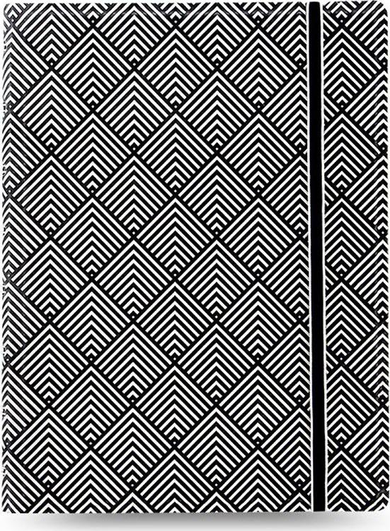 Тетрадь Filofax Impressions, 56 листов, в линейку, формат A5, цвет: черный, белый