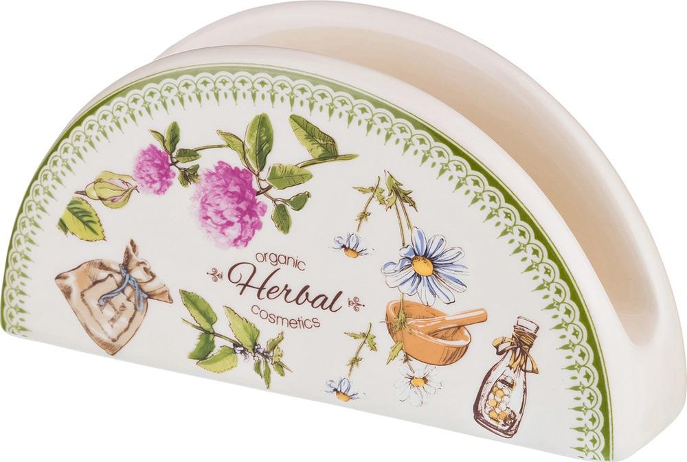 Салфетница Lefard Herbal, 16 х 4 х 8 см салфетница доляна уголок 13 х 6 х 8 см