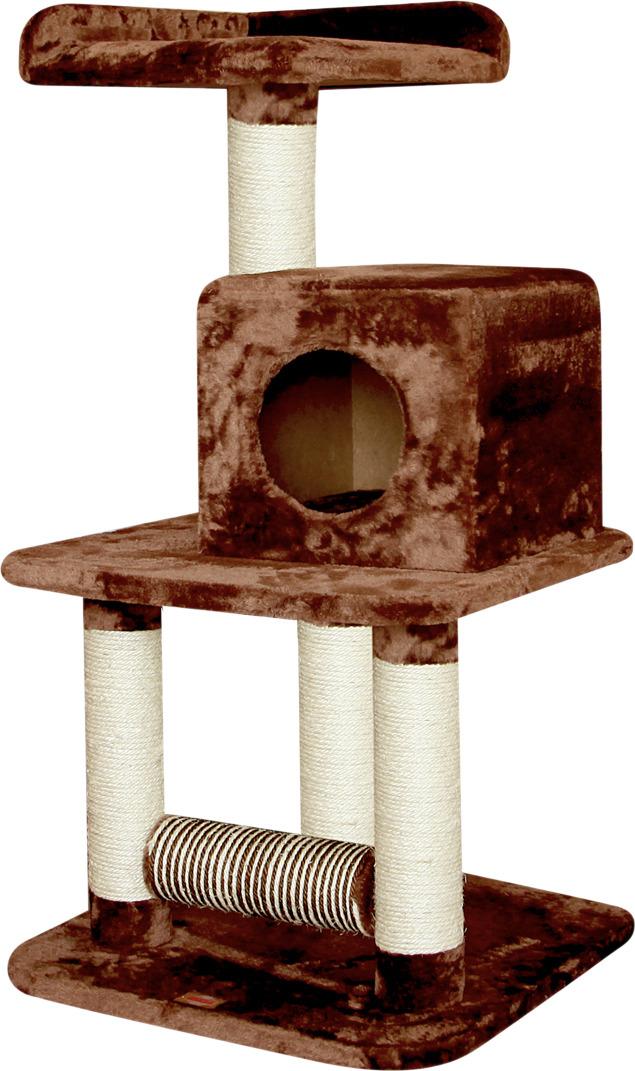 цена на Игровая площадка для кошек Fauna Buere, трехуровневая, коричневый