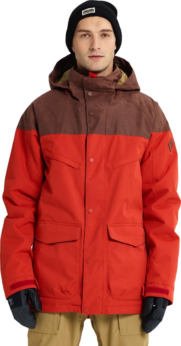 Куртка мужская Burton Breach Jacket, цвет: коричнево-красный. 10180105601. Размер XS (42)10180105601Сноубордическая куртка Burton MB Breach JK - универсальная модель и наиболее технологичная в своем классе. Лаконичный дизайн, удобный крой, эргономичный защитный капюшон, регулируемые манжеты и снегозащитная юбка - все это необходимые атрибуты для комфортного катания в разных погодных условиях. Универсальный утеплитель THERMOLITE® в сочетании с подкладкой Living Lining™ обеспечивает правильную терморегуляцию.