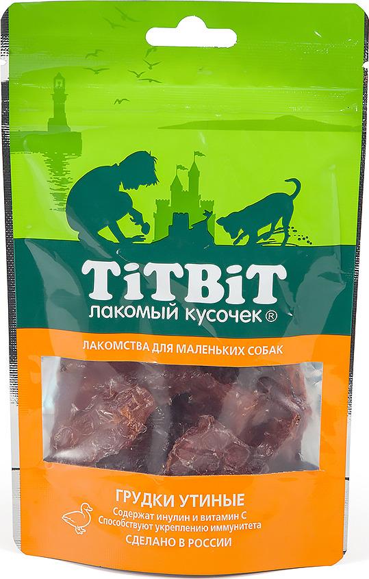 """Лакомство Titbit """"Грудки утиные"""", для собак малых пород, 50 г"""