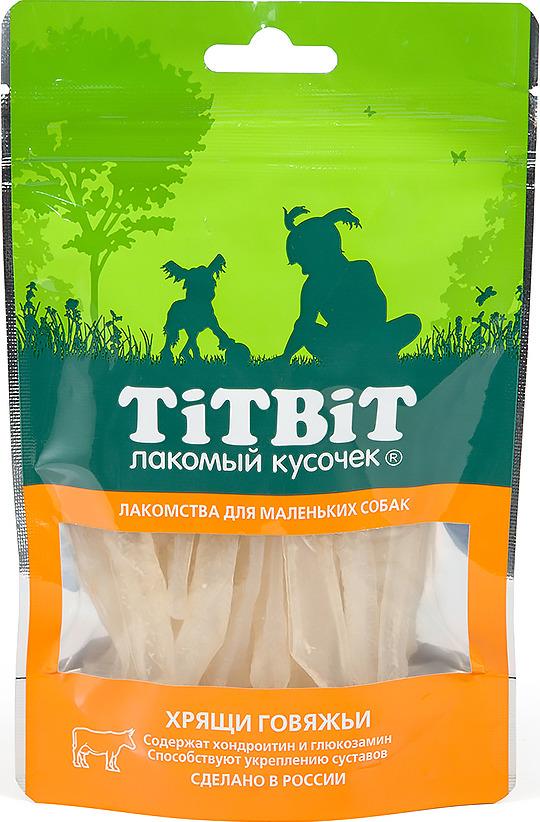 """Лакомство Titbit """"Хрящи говяжьи"""" для собак малых пород, 010747, 50 г"""