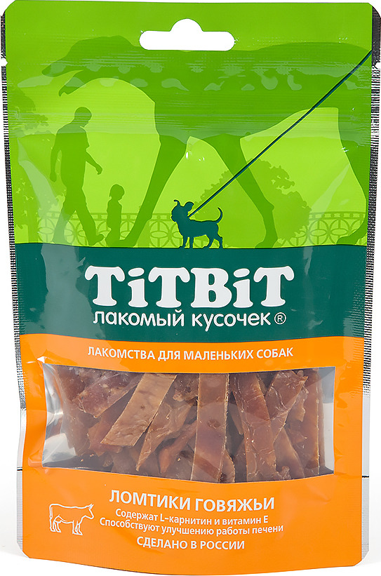 """Лакомство Titbit """"Ломтики говяжьи"""", для собак малых пород, 50 г"""
