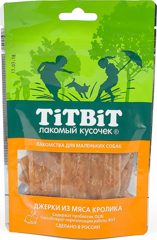 """Лакомство Titbit """"Джерки из мяса кролика"""" для собак малых пород, 010976, 50 г"""