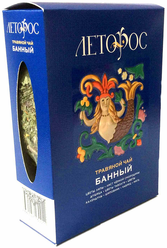Чай листовой Леторос Банный, травяной, 100 г teacher карельский чай цветочно травяной купаж 500 г