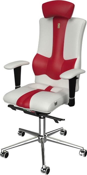 Компьютерное кресло Kulik System Elegance, цвет: белый, красный