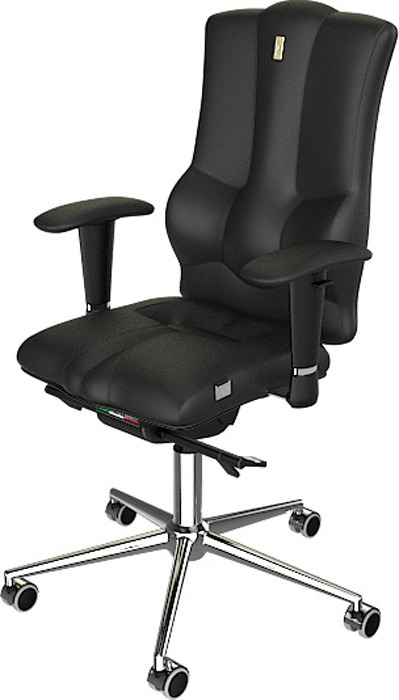 Компьютерное кресло Kulik System Elegance, цвет: черный. 1005