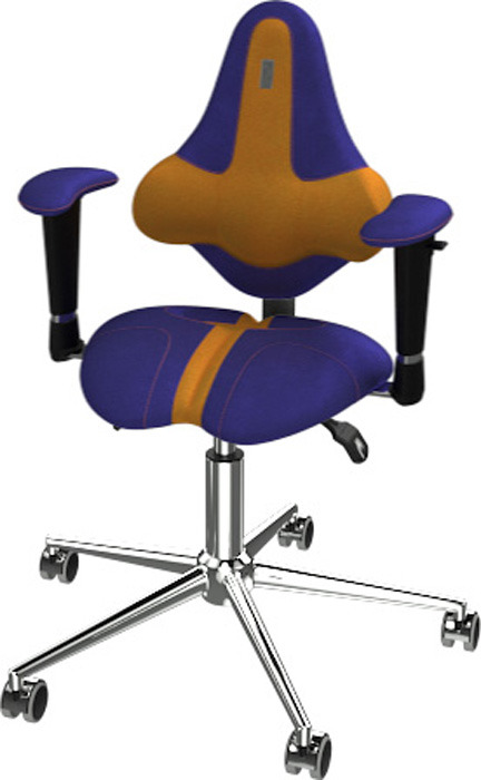 Кресло детское Kulik System Kids, синий, желтый
