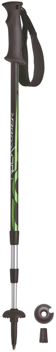 Палки для трекинга Cober Hard Rock, цвет: зеленый, 100-135 см