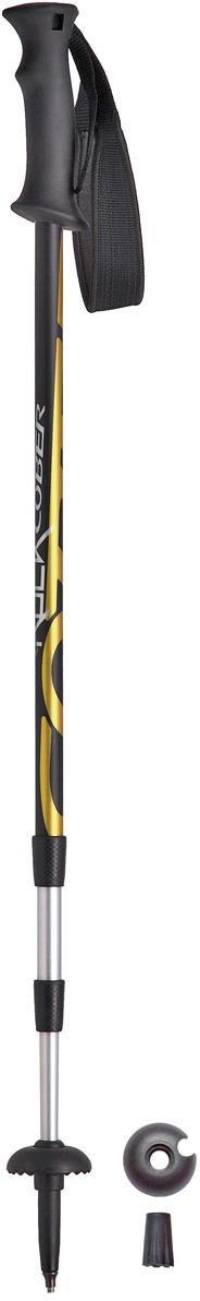 Палки для трекинга Cober Hard Rock, цвет: желтый, 100-135 см