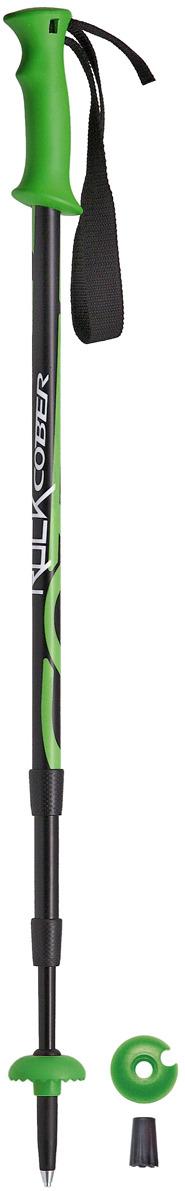 Палки для трекинга Cober Rock, цвет: зеленый, 110-140 см Cober