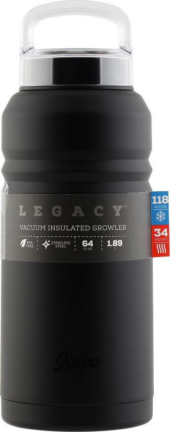 Термос Igloo Legacy, цвет: черный, 1,9 л