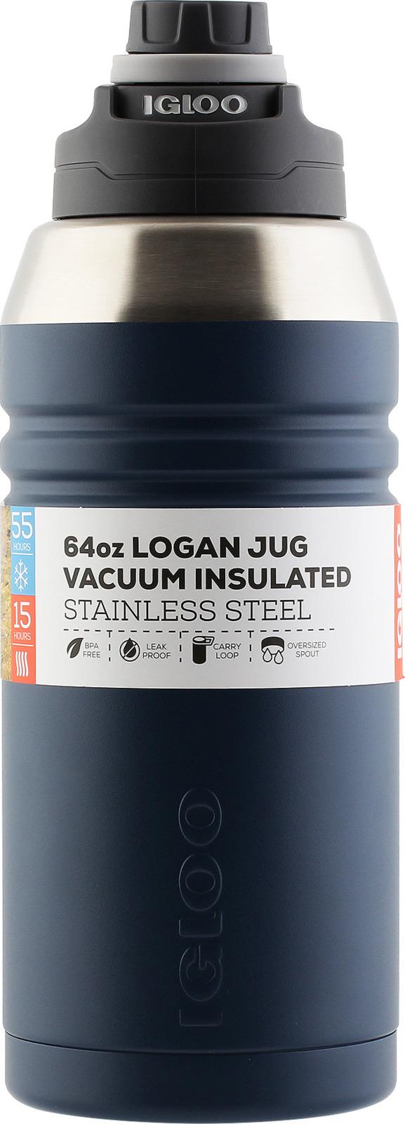 Термос Igloo Logan, цвет: синий, 1,9 л