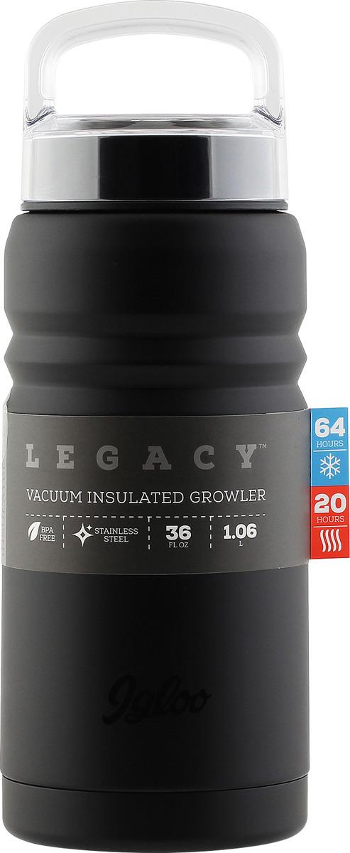 Термос Igloo Legacy, цвет: черный, 1 л