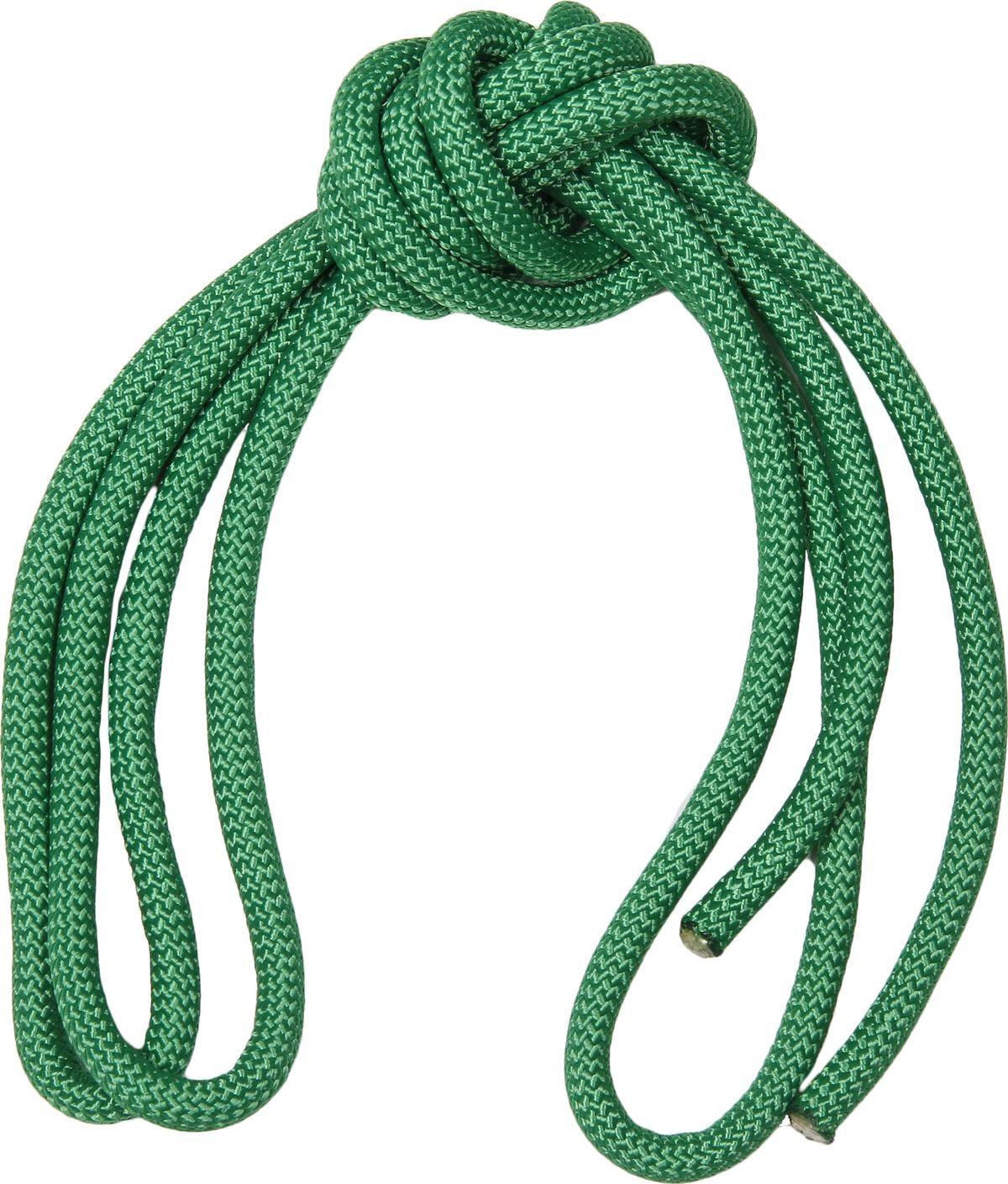 Скакалка гимнастическая Indigo, утяжеленная, цвет: зеленый, длина 3 м цена