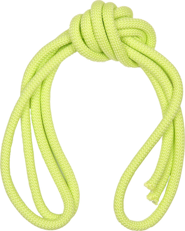 Скакалка гимнастическая Indigo, утяжеленная, цвет: светло-зеленый, длина 3 м цена