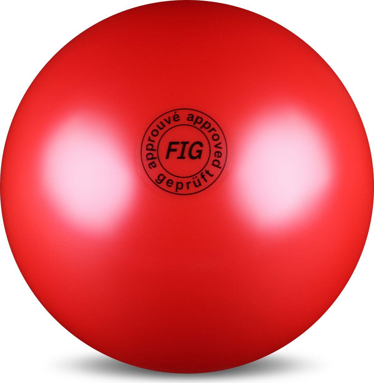 Мяч гимнастический Indigo, цвет: красный, диаметр 19 см цена