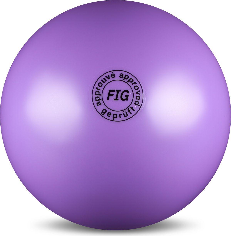Мяч гимнастический Indigo, цвет: сиреневый, диаметр 19 см цена