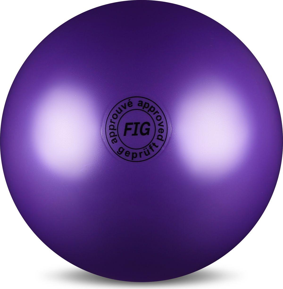 Мяч гимнастический Indigo, цвет: фиолетовый, диаметр 19 см мяч для художественной гимнастики indigo силиконовый цвет разноцветный диаметр 15 см