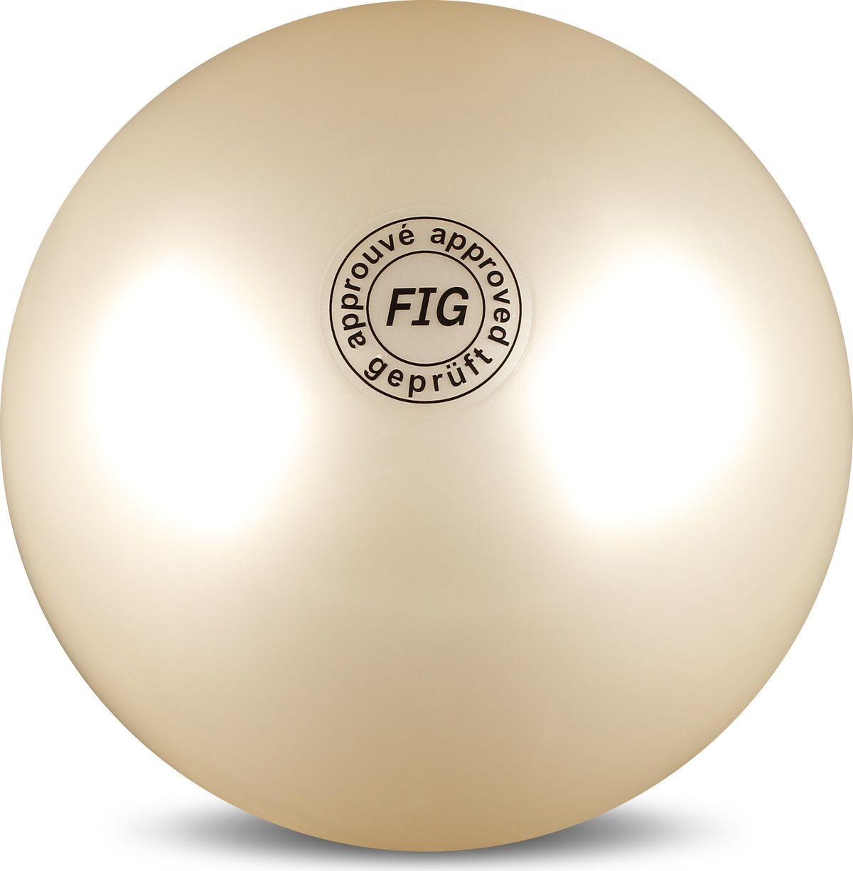 Мяч гимнастический Indigo, цвет: белый, диаметр 19 см мяч для художественной гимнастики indigo силиконовый цвет разноцветный диаметр 15 см