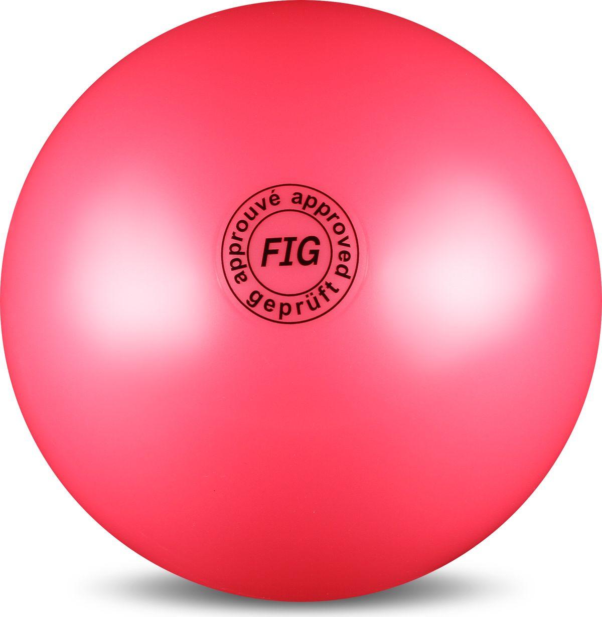 Мяч гимнастический Indigo, цвет: розовый, диаметр 19 см цена