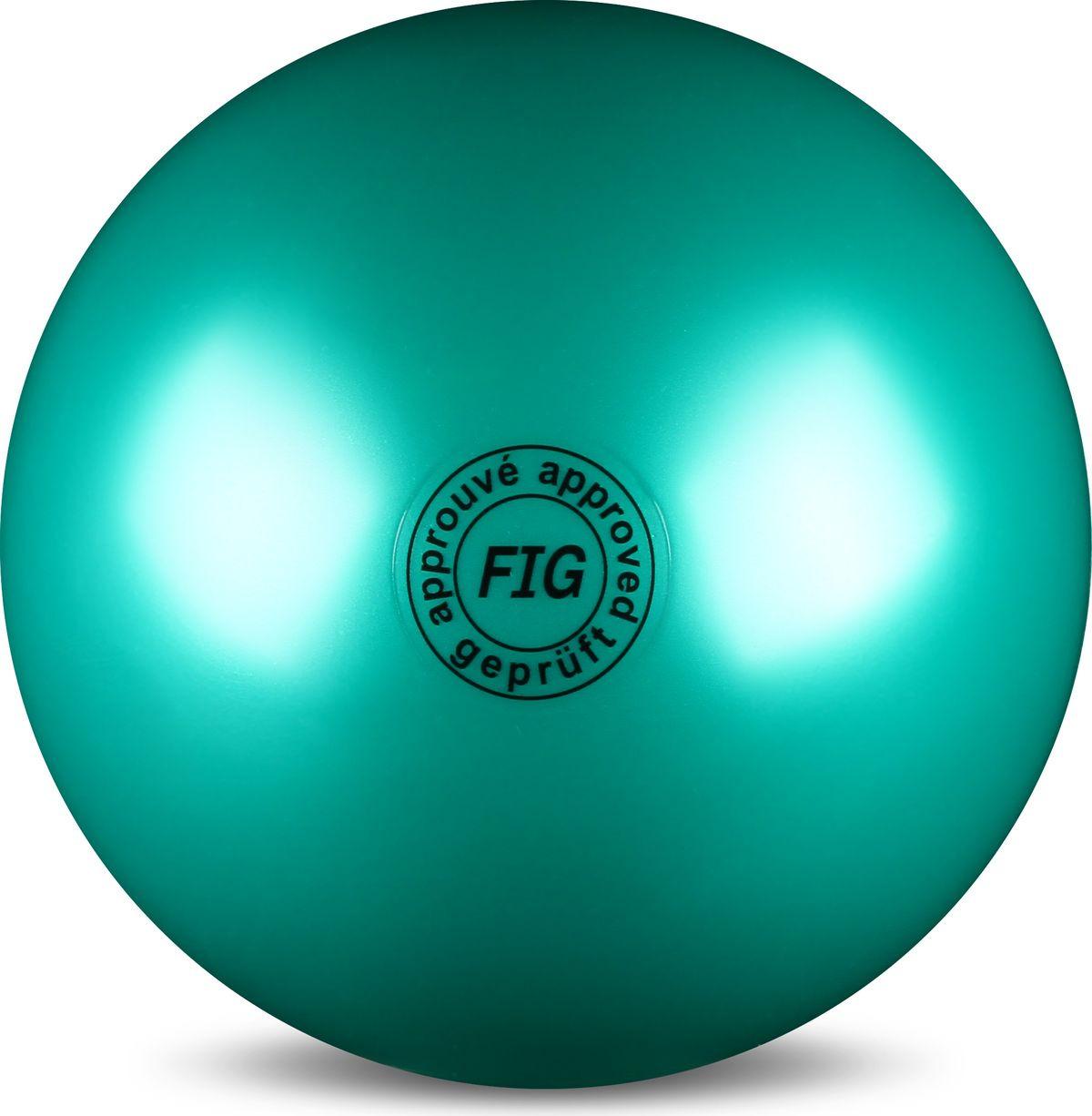 Мяч гимнастический Indigo, цвет: зеленый, диаметр 19 см