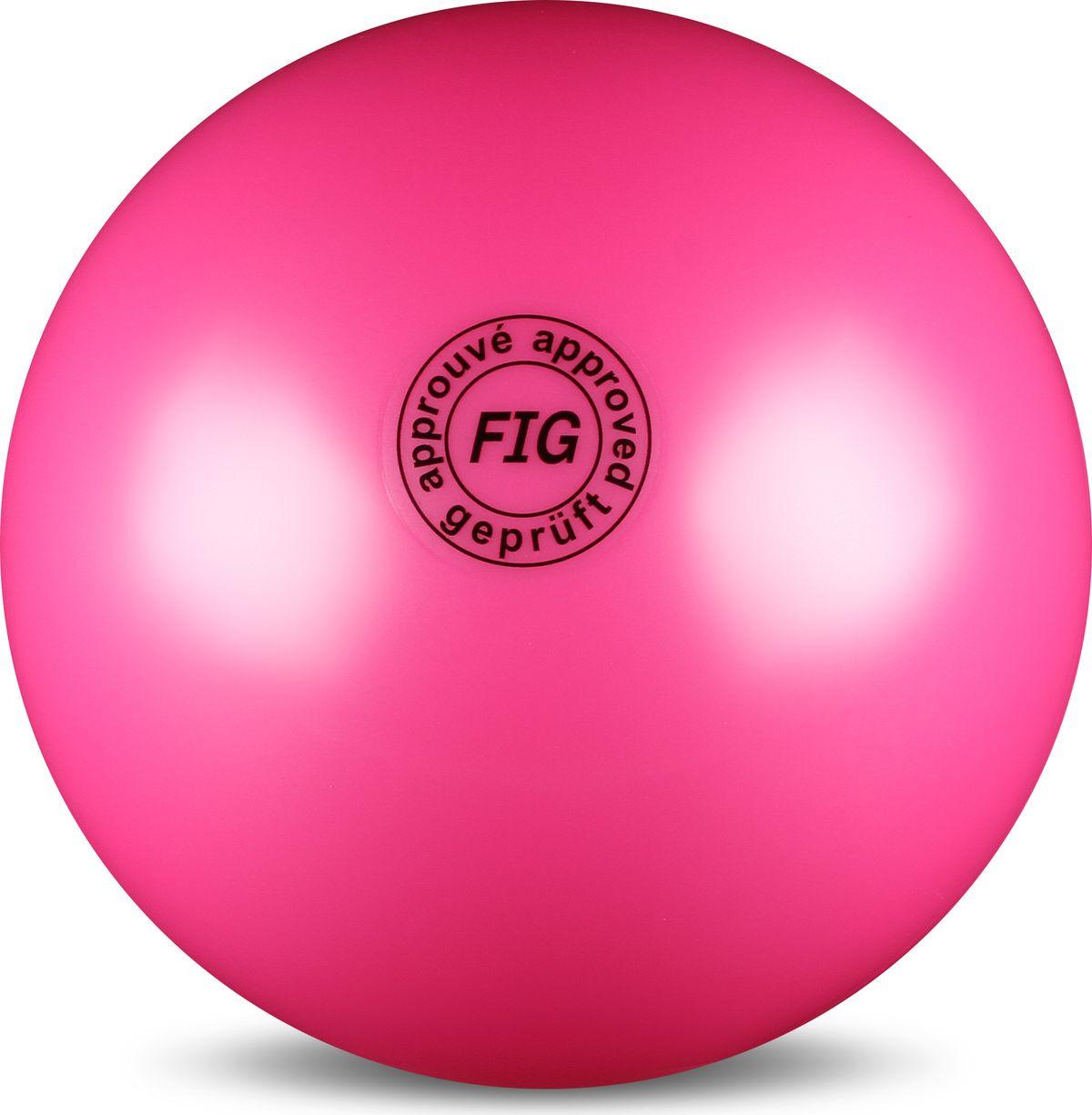Мяч гимнастический Indigo, цвет: фуксия, диаметр 19 см