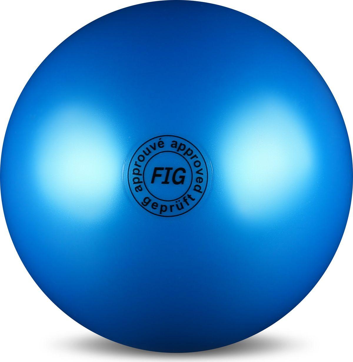 Мяч гимнастический Indigo, цвет: синий, диаметр 19 см цена