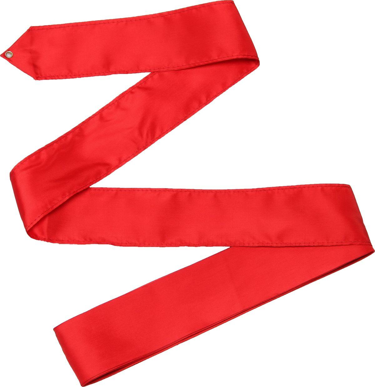 Лента гимнастическая Indigo, без палочки, цвет: красный, длина 4 мСЕ2-05Лента гимнастическая для занятий художественной гимнастикой будет хорошим выбором для тех, кто профессионально занимается танцами или художественной гимнастикой. Упражнения с лентой гимнастической способствуют развитию подвижности в суставах и силы мышц плечевого пояса и рук, тонкой и сложной мышечной координации. Движения с лентой, выполняемые в сочетании с движениями тела, оказывают значительное физиологическое воздействие на организм в целом. Длина гимнастической ленты зависит от возраста спортсменки и ее уровня мастерства: лента гимнастки моложе 9 лет не превышает 4,0 метра; от 9 до 14 лет - 5 метров; старше 14 лет - 6 метров.