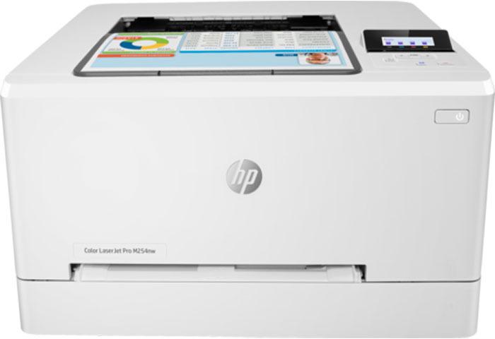 Принтер HP Color LaserJet Pro M254nw, цвет: белый принтер hp color laserjet pro m254nw