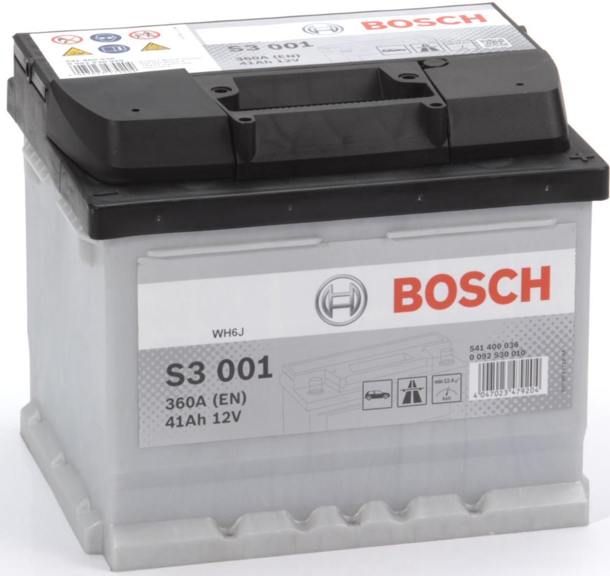 Автомобильный аккумулятор Bosch S3, 360A, ОП, 41 а/ч аккумуляторы для автомобиля 70 а ч цена