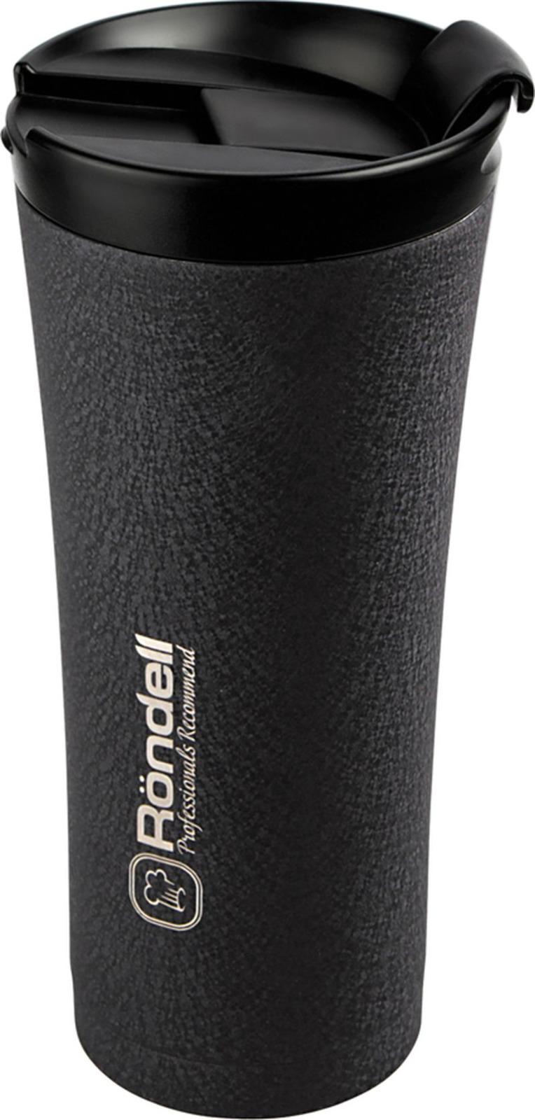 Термокружка Rondell Ultra Infinity, цвет: черный, 500 мл