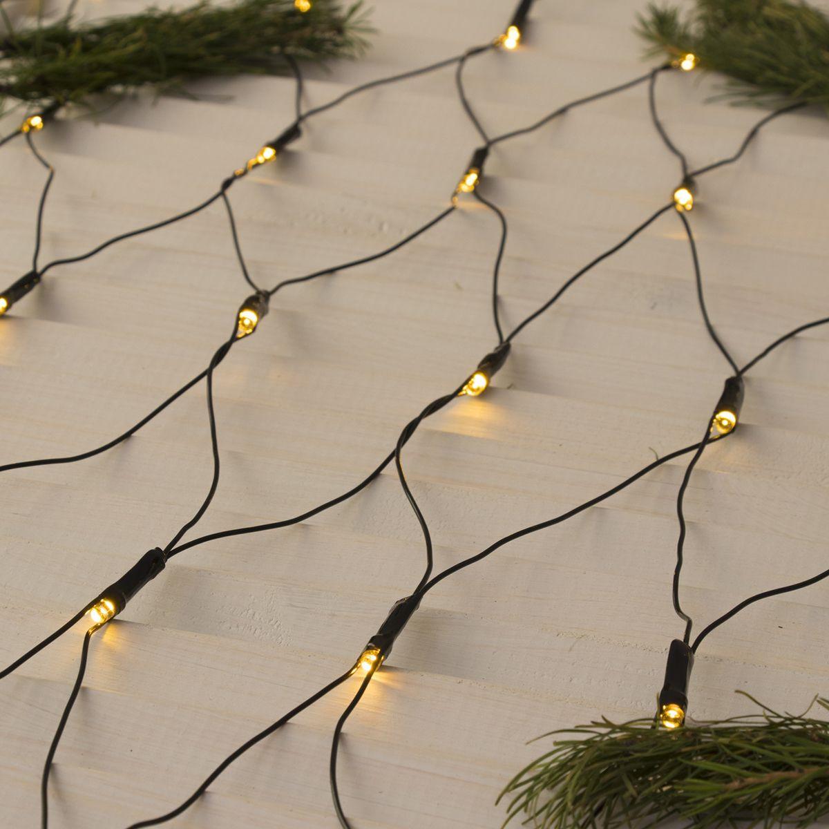 Гирлянда электрическая Luazon Lighting Сеть, нить темная, цвет: теплый белый, 224 LED, 220 V, 8 режимов, 2 х 2 м гирлянда уличная luazon lighting сеть умс нить прозрачная цвет разноцветный 192 led 2 х 1 5 м